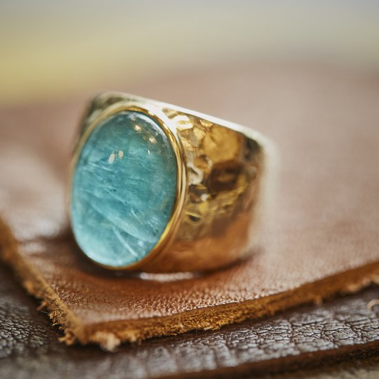 Hammered  Ring  Grandidierite/2109-004