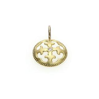 Diamond Charm(K18GG/K18WG)/1211-029