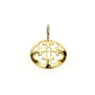 Diamond Charm(K18GG/K18WG)/1212-003