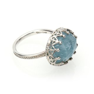 Jewel Ring Milky Aqua/1211-004