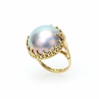 Mabe Pearl Ring K18YG/1211-001