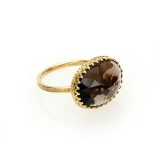 Jewel Ring  Smoky quartz/1211-005