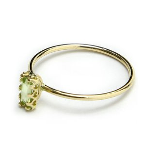 float ring Peridot vertical/1311-025