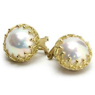 Mabe Pearl Earring K18YG/1311-035