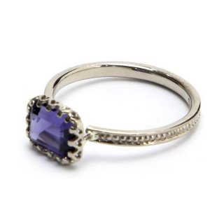 mill ring with  Stone Iolite/1311-074