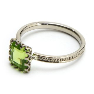 mill ring with  Stone Peridot/1311-075
