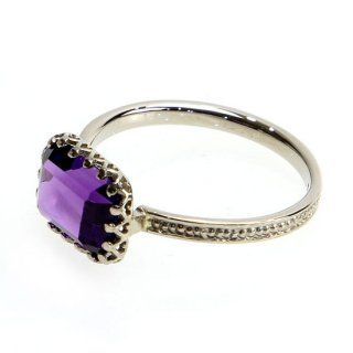 mill ring with Stone Amethyst /1402-022