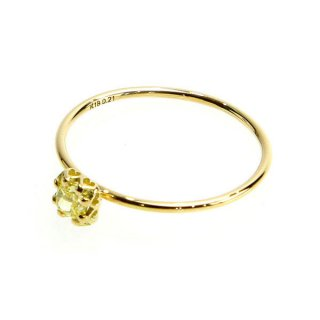 float ring fancy yellow Diamond/1402-042