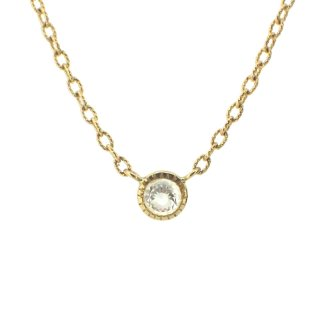 dome shape diamond necklace/1411-004