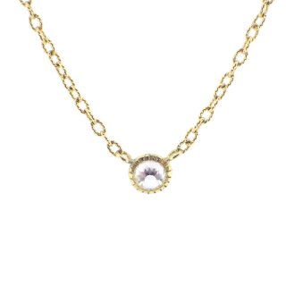dome shape diamond necklace/1411-005