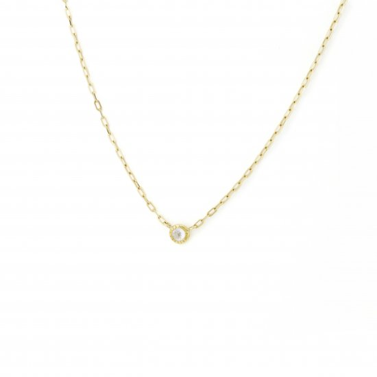 dome shape diamond long necklace/1411-006
