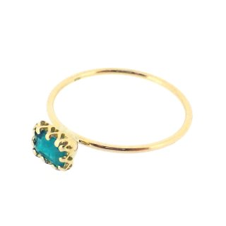 float ring Emerald/1502-007