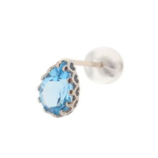 studded  Pierce Blue Topaz/1502-016