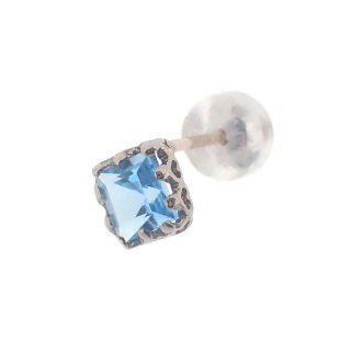 studded  Pierce Blue Topaz/1502-017