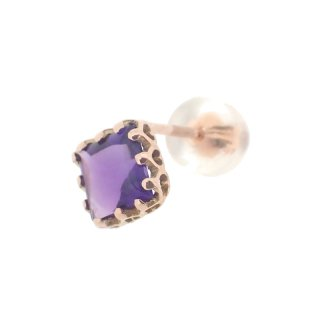 studded  Pierce Amethyst/1502-022