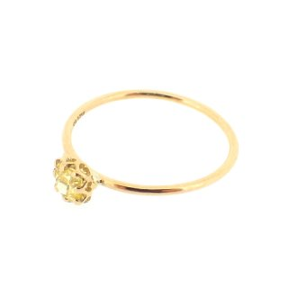 float ring fancy yellow Diamond/1502-043