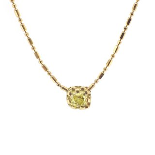 float necklace fancy yellow Diamond/1502-053