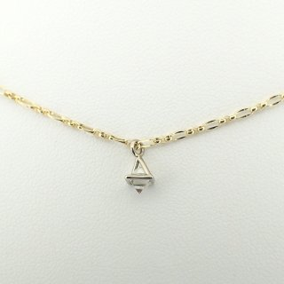 framed rough diamond pendant/1504-007
