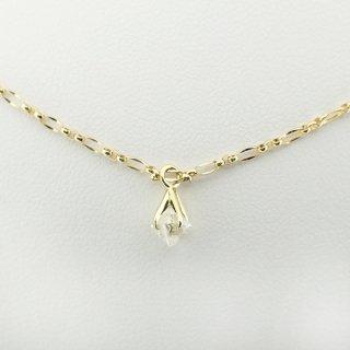 pinched rough diamond pendant/1504-011