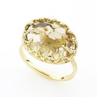 Jewel Ring Smoky quartz/1508-018