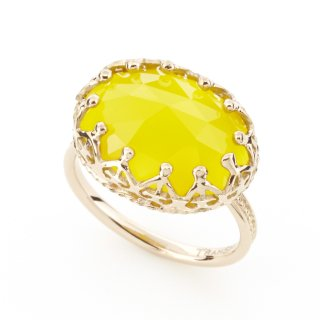 Jewel Ring Lemon Yellow Chalcedony/1508-020