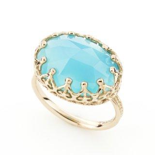 Jewel Ring Sea Blue Chalcedony/1508-021