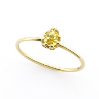 float ring fancy yellow Diamond / 1510-001