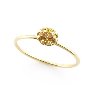 float ring fancy yellow Diamond / 1510-002