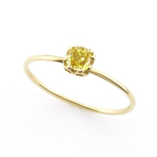 float ring fancy yellow Diamond / 1510-003