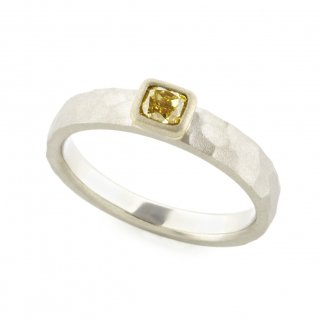 fancy yellow Diamond cut ring/1510-011