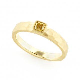 fancy yellow Diamond cut ring/1510-012
