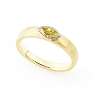 fancy yellow Diamond cut ring/1510-019