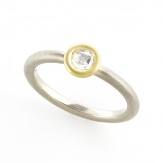 rose cut diamond materio ring/1510-032