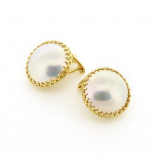 Mabe Pearl Earring / 1510-035