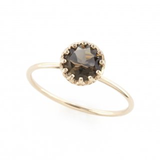float ring Smoky quartz  /1510-054