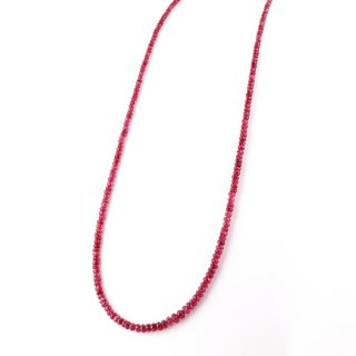 Red Spinel Long Necklace / 1511-001