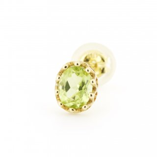 studded Pierce Peridot(oval) / 1511-011