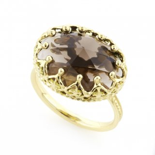 Jewel Ring Smoky quartz / 1511-025