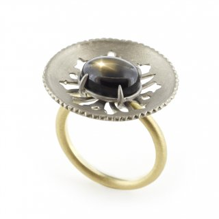 parabola ring Black Star Sapphire/1511-050