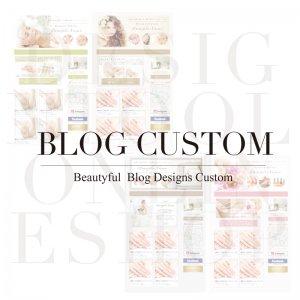 ブログカスタマイズ|サロン向けかわいいブログデザイン