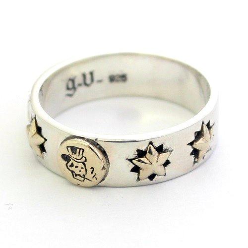 スカル ドクロ 五芒星 スター 星 goodvibrations グッドバイブレーション シルバー925 リング 指輪 アクセサ…