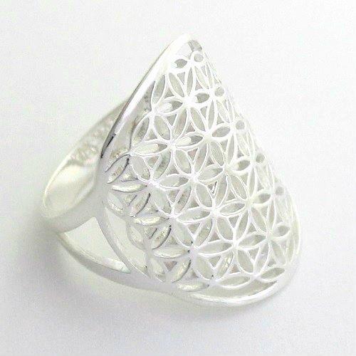 フラワーオブライフ flower of life 神幾何学 生命の花 シルバー925 リング 指輪