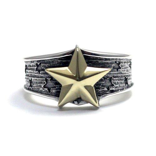 五芒星 ペンタグラム 星 スター リング 指輪 シルバー925