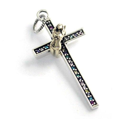 goodvibrations グッドバイブレーション クロス 十字架 マルチカラー ジルコニア ペンダント トップ
