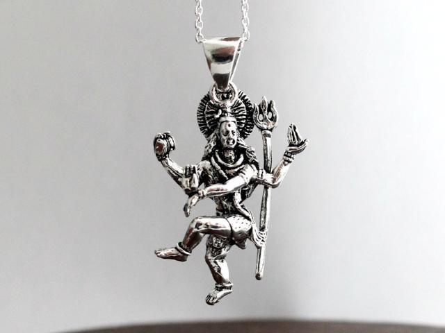 インド シヴァ ダンシングシヴァ ヒンドゥー教 ペンダントトップ シルバーアクセサリー