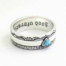 ネイティブアメリカン インディアン ターコイズ シルバー925 リング 指輪 アクセサリー goodvibrations グッドバイブレーション 【送料無料】