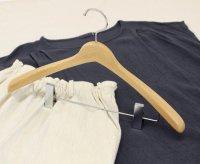 【アウトレット】アップルハウスオリジナル・木製ハンガー ピンチ付き(5本セット)