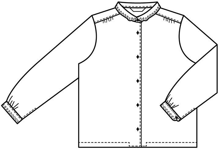 長袖マジパンブラウス(Lサイズ/カラー)※旧デザイン 商品画像13