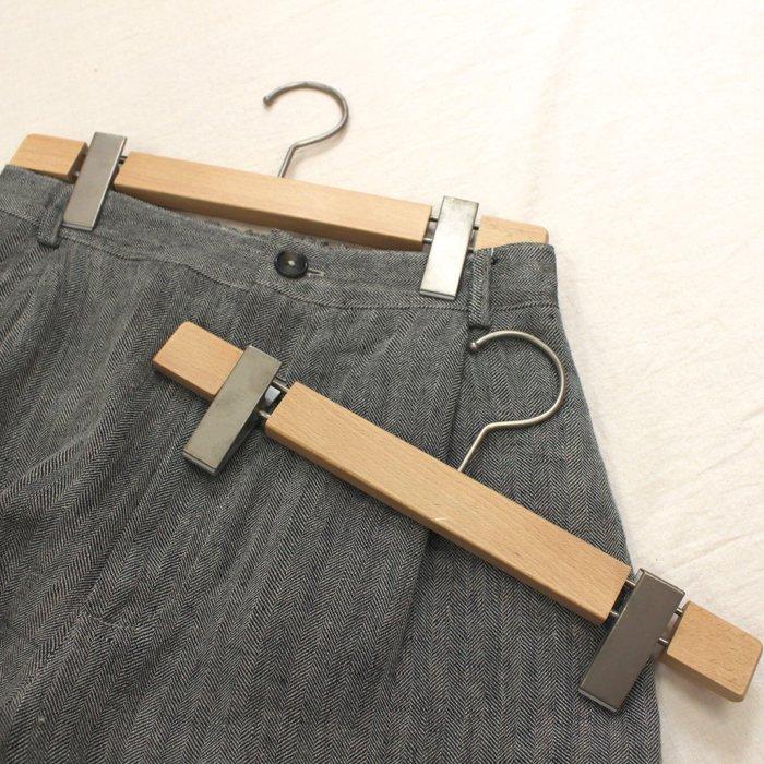 【アウトレット】アップルハウスオリジナル・木製ボトムハンガー (5本セット)商品画像1