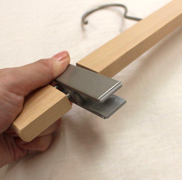 【アウトレット】アップルハウスオリジナル・木製ボトムハンガー (5本セット)商品画像4